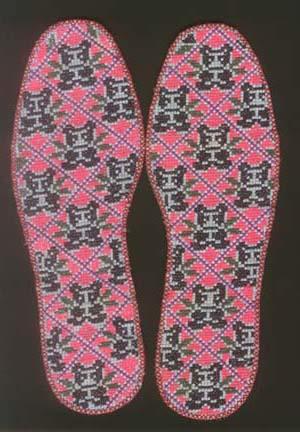 手工制作鞋垫花样图片
